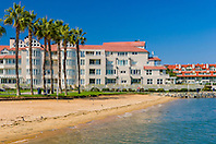 beach and luxury condominium, Coronado Island, San Diego, California, USA, Pacific Ocean