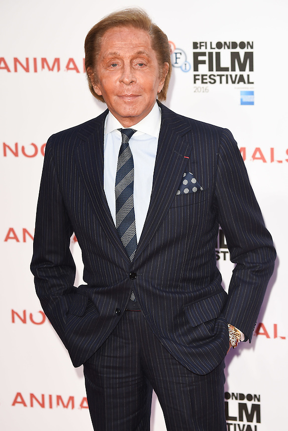 """Valentino<br /> at the London Film Festival 2016 premiere of """"Nocturnal Animals"""" at the Odeon Leicester Square, London.<br /> <br /> <br /> ©Ash Knotek  D3179  14/10/2016"""