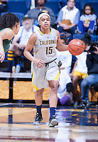 Brittany Boyd of California dribbles down the court against Oregon at Haas Pavilion in Berkeley, California on January 5th, 2014. California defeated Oregon