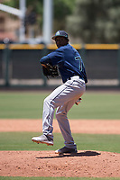 Seattle Mariners relief pitcher Dayeison Arias (77) delivers a pitch during an Extended Spring Training game against the San Francisco Giants Orange at the San Francisco Giants Training Complex on May 28, 2018 in Scottsdale, Arizona. (Zachary Lucy/Four Seam Images)
