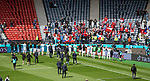 14.06.2021 Scotland v Czech Republic:  Czech players go to their fans at full time