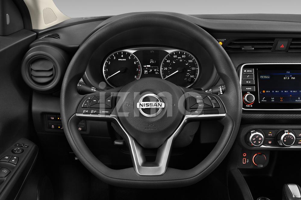 Car pictures of steering wheel view of a 2021 Nissan Kicks - 5 Door SUV Steering Wheel