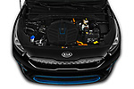 Car Stock 2019 KIA e-Niro More 5 Door SUV Engine  high angle detail view