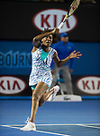 Venus Williams (USA) defeats Agnieszka Radwanska (POL) 6-3, 2-6, 6-1  at the Australian Open being played at Melbourne Park in Melbourne, Australia on January 26, 2015
