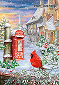 Marcello, CHRISTMAS ANIMALS, WEIHNACHTEN TIERE, NAVIDAD ANIMALES, paintings+++++,ITMCXM2162B,#xa# ,post box