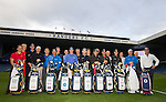 Callaway tour players and Rangers staff at Ibrox