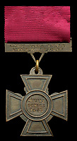 BNPS.co.uk (01202) 558833. <br /> Pic: Spink&Son/BNPS<br /> <br /> Pictured: The Victoria Cross awarded to General James Blair. <br /> <br /> The prestigious Victoria Cross awarded to a fearless general who charged the enemy holding just the butt of his sword has sold for £223,000.<br /> <br /> General James Blair was left grasping the blunt hilt of his weapon after damaging its blade 'against the head' of a rebel during a bloody Indian Mutiny skirmish.<br /> <br /> But, despite having no way to protect himself, he ran in front of his men towards the mutineers to engage them in fierce hand-to-hand combat. The defenceless general, who already had a serious slash wound to his right arm, miraculously came out on top, forcing his adversaries to run away.