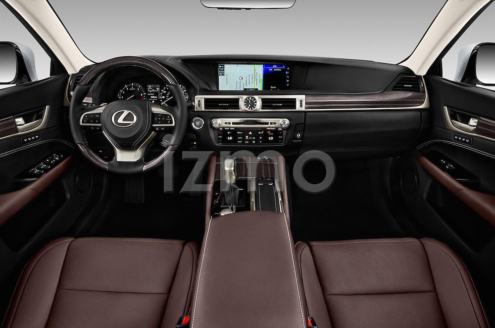 Stock photo of straight dashboard view of 2016 Lexus GS 350 4 Door Sedan Dashboard