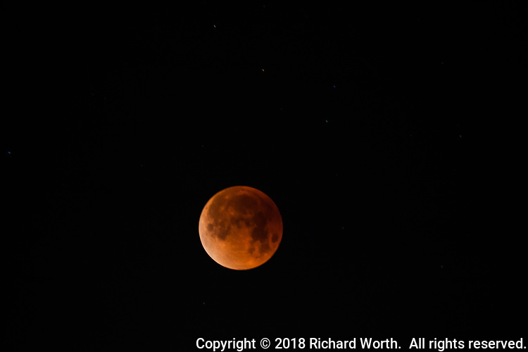 The blue moon lunar eclipse, January 31, 2018.