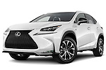 Stock pictures of low aggressive front three quarter view of a 2015 Lexus NX NX 200t F SPORT 5 Door SUV Low Aggressive