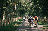 """forming of the first succesful breakaway group<br /> <br /> Antwerp Port Epic 2018 (formerly """"Schaal Sels"""")<br /> One Day Race:  Antwerp > Antwerp (207 km; of which 32km are cobbles & 30km is gravel/off-road!)"""