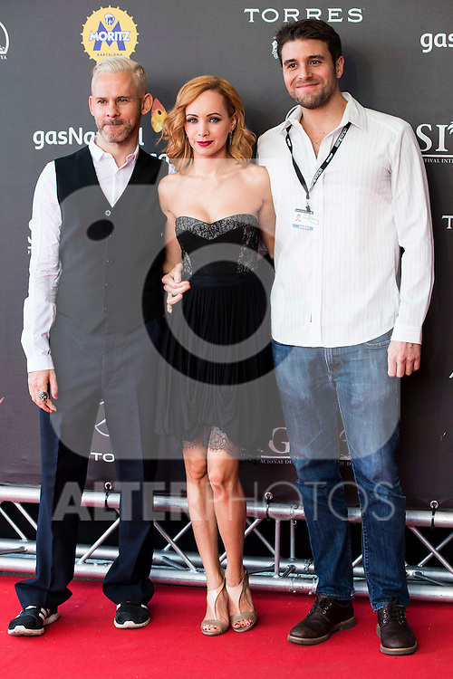 "British actor Dominic Monaghan, canadian actress Ksenia Solo and director of the film Carles Torrens attends to the red carpet of the presentation during the presentation of the film  ""Pet"" at Festival de Cine Fantastico de Sitges in Barcelona. October 11, Spain. 2016. (ALTERPHOTOS/BorjaB.Hojas)"