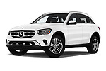 Stock pictures of low aggressive front three quarter view of a 2020 Mercedes Benz GLC-Class GLC300 5 Door SUV