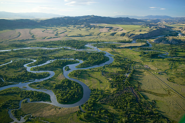 Jefferson, Madison and Gallatin rivers merge to form Missouri River