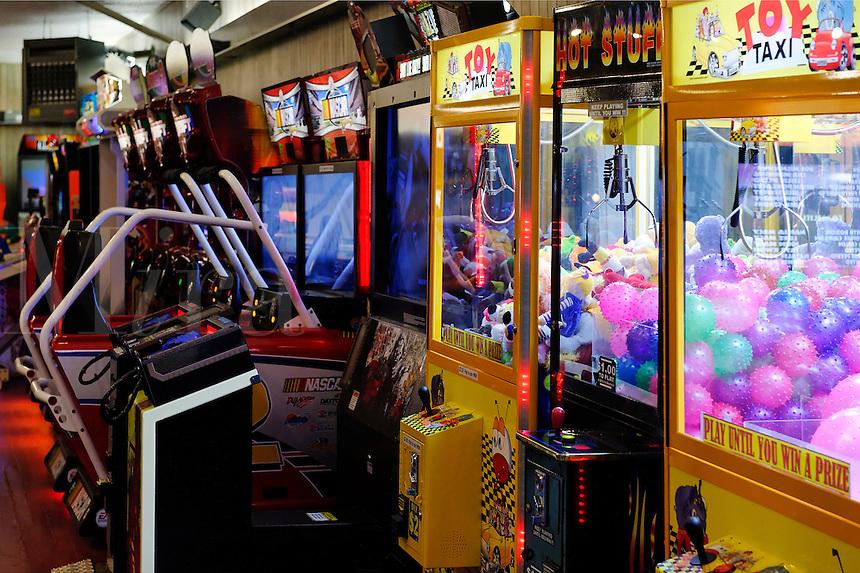 Arcade games.