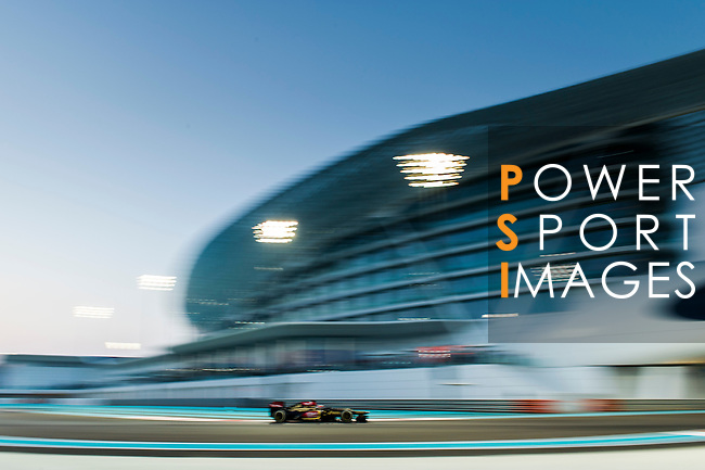 f27 drives during the Abu Dhabi Formula One Grand Prix 2013 at the Yas Marina Circuit on November 3, 2013 in Abu Dhabi, United Arab Emirates. Photo by Victor Fraile / The Power of Sport Images