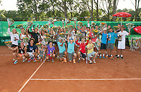 August 9, 2014, Netherlands, Rotterdam, TV Victoria, Tennis, National Junior Championships, NJK,  Prize giving, Richard Krajicek with all the winners<br /> <br /> Photo: Tennisimages/Henk Koster