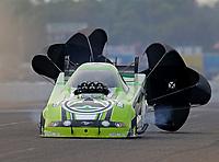 Aug 17, 2018; Brainerd, MN, USA; NHRA funny car driver Jonnie Lindberg during qualifying for the Lucas Oil Nationals at Brainerd International Raceway. Mandatory Credit: Mark J. Rebilas-USA TODAY Sports