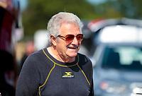 Aug 18, 2019; Brainerd, MN, USA; NHRA top fuel driver Chris Karamesines during the Lucas Oil Nationals at Brainerd International Raceway. Mandatory Credit: Mark J. Rebilas-USA TODAY Sports