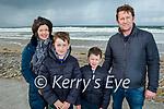 Eilish, Darragh, Tadgh and Ollie Diggins from Kilmoyley enjoying a stroll on Banna Beach on on Sunday