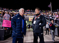 Tom Sermanni, Tony Readings. The USWNT tied New Zealand, 1-1, at an international friendly at Crew Stadium in Columbus, OH.
