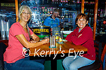 Enjoying the evening in Tatler Jacks in Killarney on Saturday, l to r: Leslie Brassilton (Kenmare) and Genie Sousa.