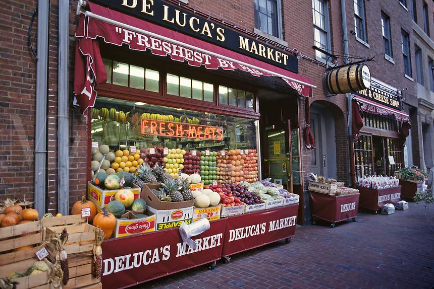Massachusetts, Boston; Beacon Hill;  Deluca's Italian Market On Charles Stree