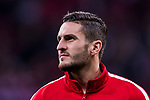Jorge Resurreccion Merodio, Koke, of Atletico de Madrid looks on prior to the UEFA Europa League 2017-18 Round of 32 (2nd leg) match between Atletico de Madrid and FC Copenhague at Wanda Metropolitano  on February 22 2018 in Madrid, Spain. Photo by Diego Souto / Power Sport Images