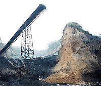 Rescue workers attend an accident at a coal mine in Shanxi Province.