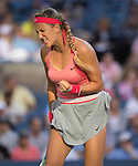 Victoria Azarenka (BLR)  loses to Serena Williams in three sets in the women's final at the US Open being played at USTA Billie Jean King National Tennis Center in Flushing, NY on September 8, 2013