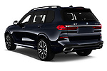 Car pictures of rear three quarter view of 2019 BMW X7 M-Sport 5 Door SUV Angular Rear