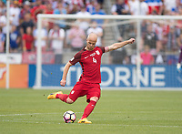 Commerce City, CO - Thursday June 08, 2017: Michael Bradley during a 2018 FIFA World Cup Qualifying Final Round match between the men's national teams of the United States (USA) and Trinidad and Tobago (TRI) at Dick's Sporting Goods Park.