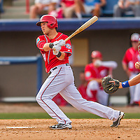 3 March 2016: Washington Nationals catcher Spencer Kieboom in action during a Spring Training pre-season game against the New York Mets at Space Coast Stadium in Viera, Florida. The Nationals defeated the Mets 9-4 in Grapefruit League play. Mandatory Credit: Ed Wolfstein Photo *** RAW (NEF) Image File Available ***