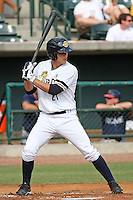 Charleston Riverdogs catcher J.R. Murphy #21 at bat during a game vs. the Rome Braves at Joseph P. Riley Jr. Ballpark in Charleston, South Carolina on June 6, 2010. Charleston defeated Rome by the score of 4-2.  Photo By Robert Gurganus/Four Seam Images