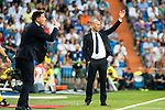 Head coach Zinedine Zidane of Real Madrid gestures during their La Liga match at the Santiago Bernabeu Stadium between Real Madrid and RC Celta de Vigo on 27 August 2016 in Madrid, Spain. Photo by Diego Gonzalez Souto / Power Sport Images