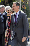 Spanish Royals King Felipe VI of Spain and Queen Letizia of Spain attend Miguel de Cervantes exhibition at National Library in Madrid, Spain. March 04, 2016. (ALTERPHOTOS/Pool)