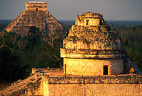 Mexico. Chichen Itza. The Observatory and El Castillo
