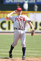 April 17th, 2008:  Infielder Brent Lillibridge (11) of the Richmond Braves, Class-AAA affiliate of the Atlanta Braves, in the field during a game at Frontier Field in Rochester, NY.  Photo by:  Mike Janes/Four Seam Images