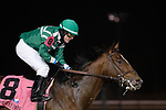 FEBRUARY 26, 2021: Hush of Storm, #8 ridden by jockey Santiago Gonzalez win the John Battaglia Memorial Stakes at Turfway Park on February 26 in Florence Kentucky. Jessica Morgan/Eclipse Sportswire/CSM