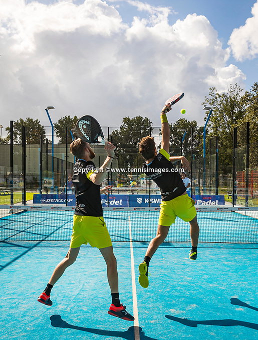 Netherlands, September 5,  2020, Amsterdam, Padel Dam, NK Padel, National Padel Championships,  Men's doubles Sten Richters (NED) and Robin Sietsma (NED)<br /> Photo: Henk Koster/tennisimages.com
