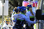 Orica-Ais women's team prepare to start the 2015 Strade Bianche Women Elite cycle race 103km over the white gravel roads from San Gimignano to Siena, Tuscany, Italy. 8th March 2015<br /> Photo: Eoin Clarke www.newsfile.ie