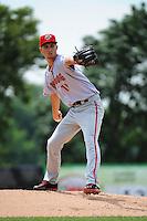 Harrisburg Senators pitcher A.J. Cole (19) during game against the Trenton Thunder at ARM & HAMMER Park on July 31, 2013 in Trenton, NJ.  Harrisburg defeated Trenton 5-3.  (Tomasso DeRosa/Four Seam Images)
