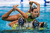 CONESA PRIETO Abril / FERRERAS SANZ Berta<br /> MAS PUJADAS Meritxell / OZHOGINA OZHOGIN Alisa<br /> RAMIREZ IBANEZ Paula / SALDANA LOPEZ Sara<br /> TIO' CASAS Iris / TOLEDANO LAUT Blanca <br /> ESP Silver Medal <br /> TEAM FREE Final <br /> Artistic Swimming<br /> Budapest  - Hungary  14/5/2021<br /> Duna Arena<br /> XXXV LEN European Aquatic Championships<br /> Photo Andrea Staccioli / Deepbluemedia / Insidefoto