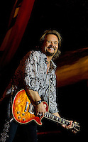 Country Music star Travis Tritt performs Food Lion Speed Street in uptown Charlotte, NC.