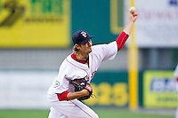 Starting pitcher Andrew Miller #7 of the Pawtucket Red Sox in action against the Charlotte Knights at McCoy Stadium on June 14, 2011 in Pawtucket, Rhode Island.  The Knights defeated the Red Sox 4-2 in 11 innings.    Photo by Brian Westerholt / Four Seam Images
