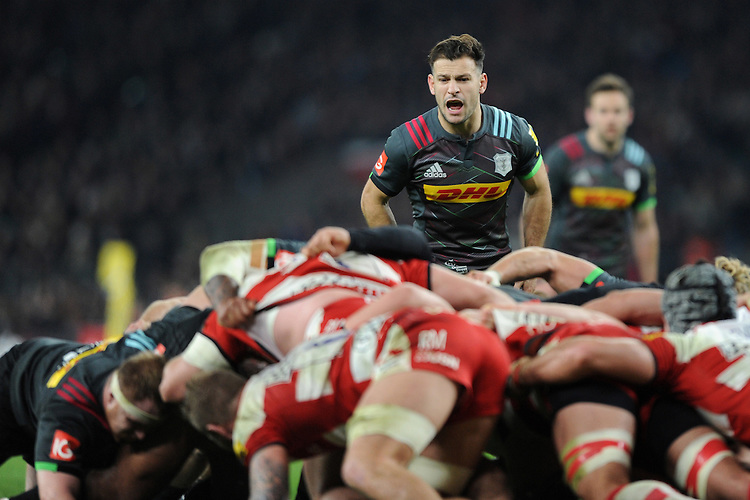Danny Care of Harlequins during the Aviva Premiership Rugby match between Harlequins and Gloucester Rugby at Twickenham Stadium on Tuesday 27th December 2016 (Photo by Rob Munro/Stewart Communications)