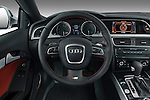 Steering wheel view of a 2007 - 2011 Audi S5 Coupe.