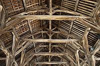 Europe/France/Bretagne/56/Morbihan/ Questembert: Les Halles  17° siècle - détail de la charpente