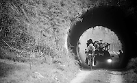1st one to emerge from the 'tunnel' is eventual race winner Martin Mortensen (DNK/ONE)<br /> <br /> 33th Tro Bro Léon 2016