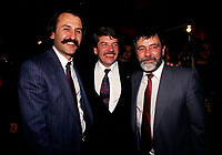 Montreal. CANADA -    File Photo circa 1990 - <br /> Jean Dore, Montreal Mayor and John Gardiner (R)<br /> <br /> File Photo : Agence Quebec Pressse  - Pierre Roussel
